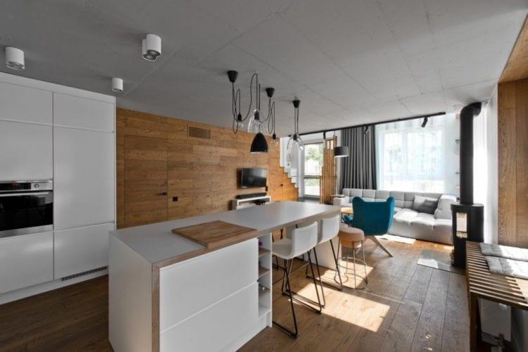кухню-гостиную в стиле лофт