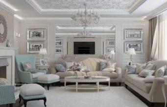 Дизайн гостиной в стиле неоклассика – современные черты классического стиля