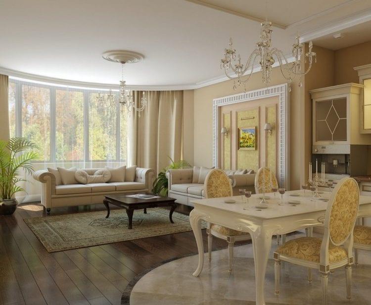 Интерьер гостиной в неоклассическом стиле
