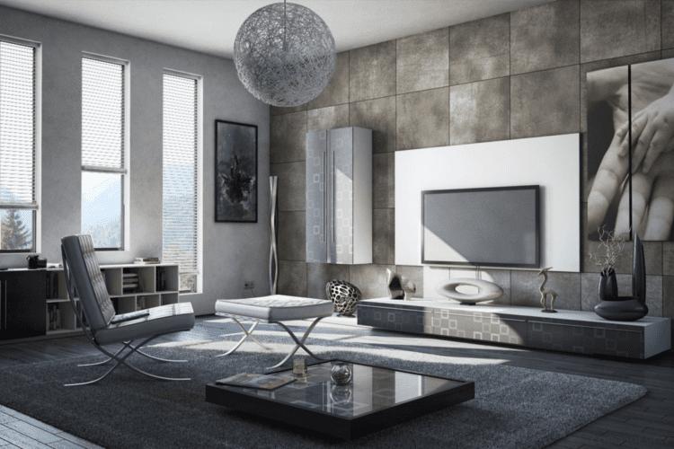 Современная гостиная в стиле минимализм
