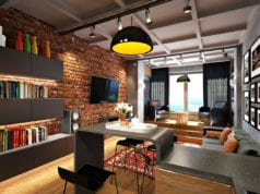 Оформляем кухню-гостиную в стиле лофт