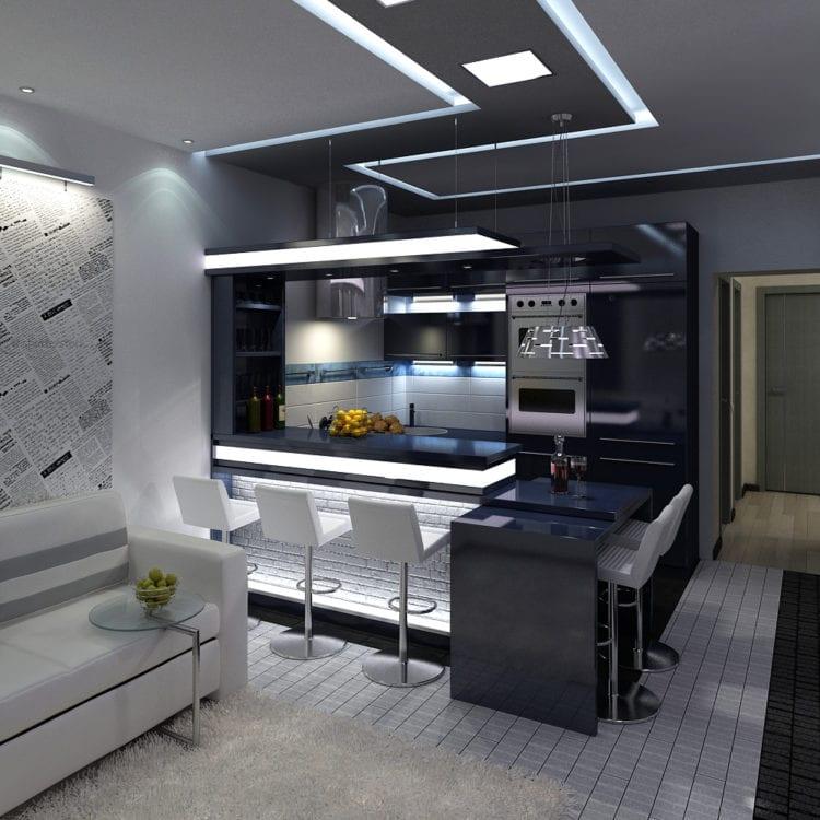 Кухня гостиная 16 квадратов