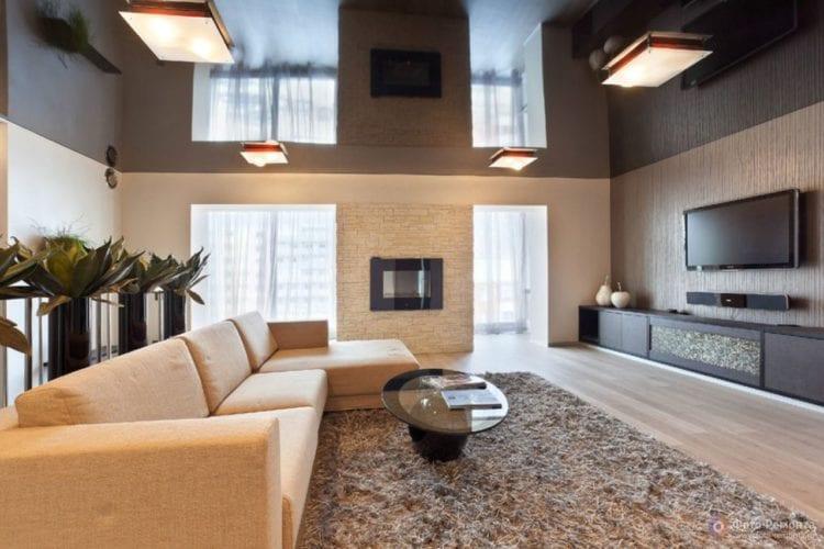 Мебель для гостиной в бежевом цвете