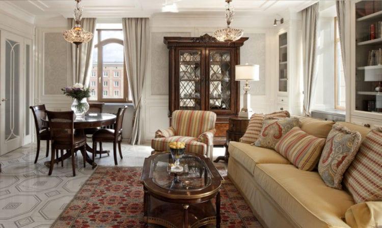 Интерьер гостиной в американском стиле