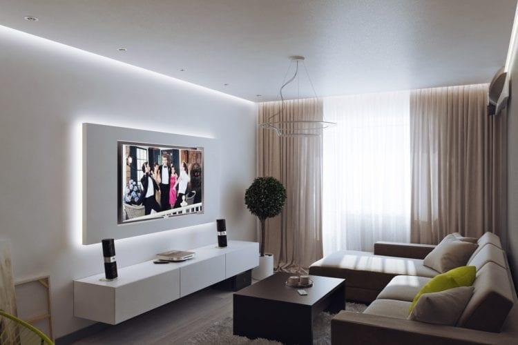 Дизайн гостиной 16 кв.м.