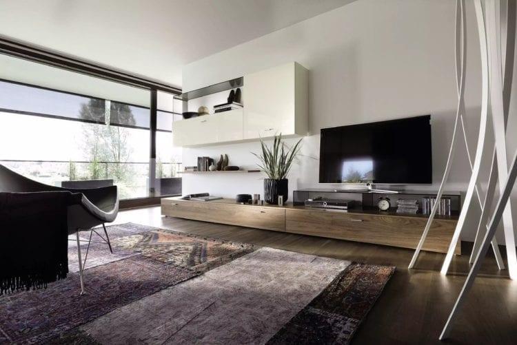 Стенки и другая модульная мебель для гостиной хай-тек