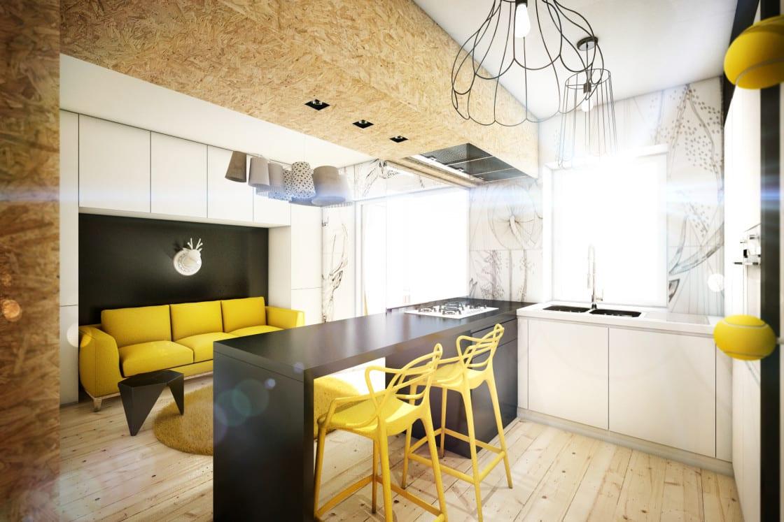 Желтый диван в гостиной, или Как сделать ее интерьер ярким и уютным