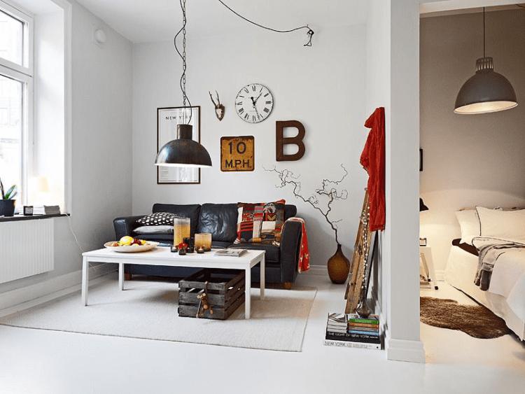 Спальня-гостиная 16 кв. м. – просто, эргономично и функционально