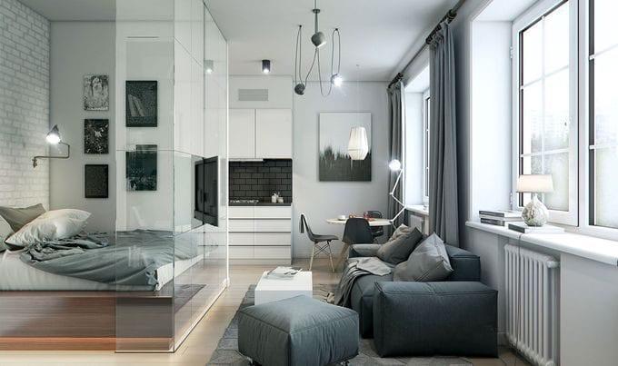 Спальня-гостиная 16 кв. м.