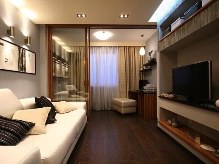 Интерьер гостиной в панельных домах