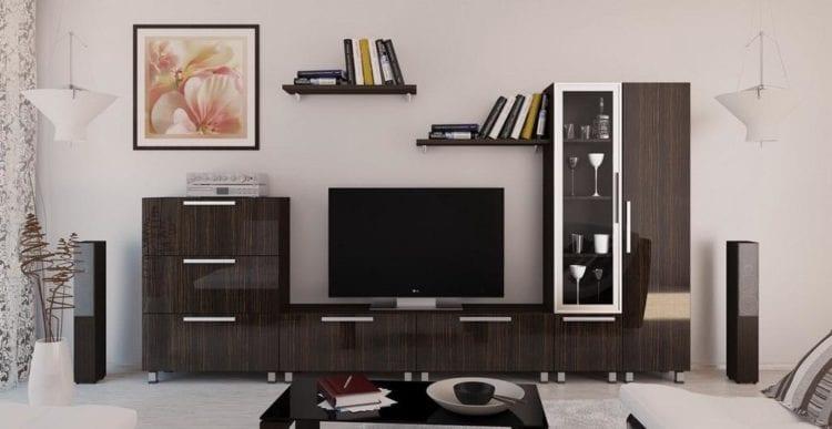 Выбираем глянцевую модульную мебель в гостиную