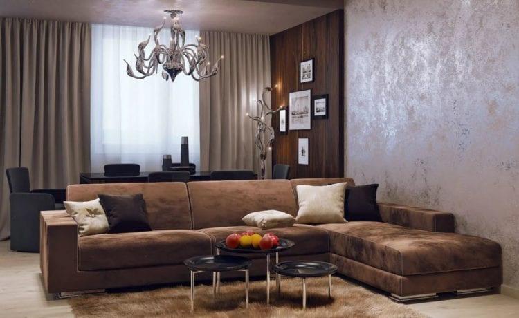мебель для коричневой гостиной