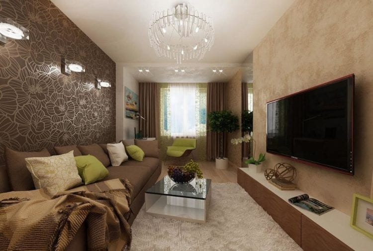 Пример удачного ремонта гостиной на 18 кв. м.