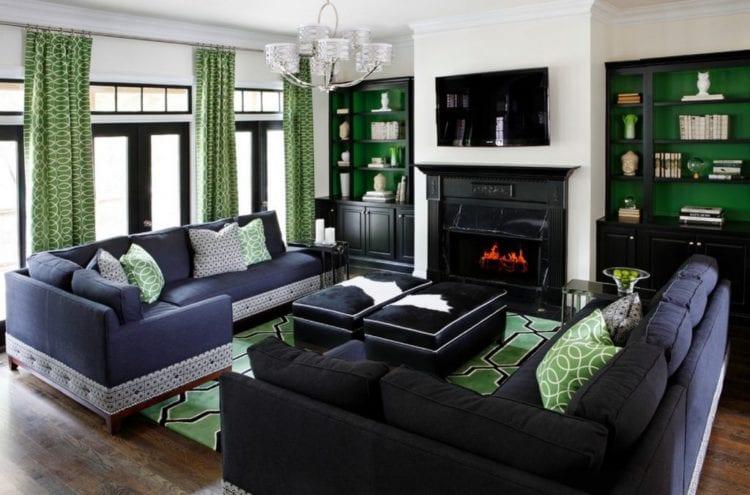С чем сочетаются зеленые шторы