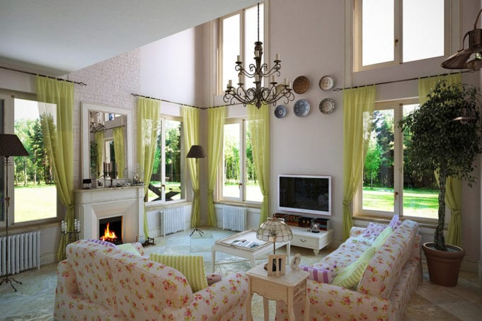 Интерьер гостиной в стиле прованс – роскошь, навеянная лавандовыми полями