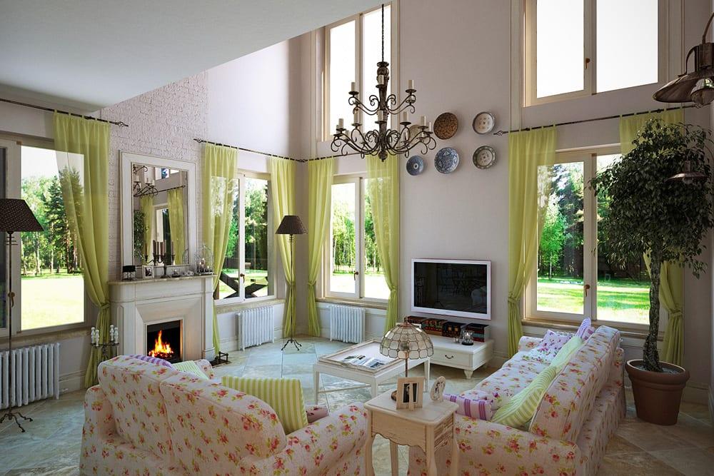 Дачная гостиная в стиле прованс