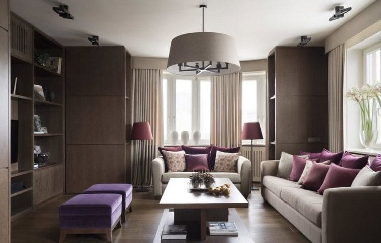 Интерьер зала площадью 18 кв. м: бюджетный вариант для обычной квартиры