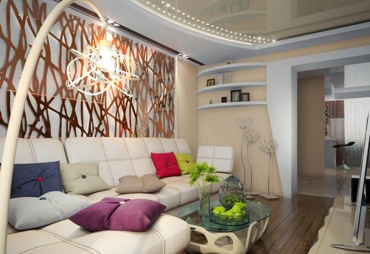 Современный интерьер комнаты 18 кв. м.