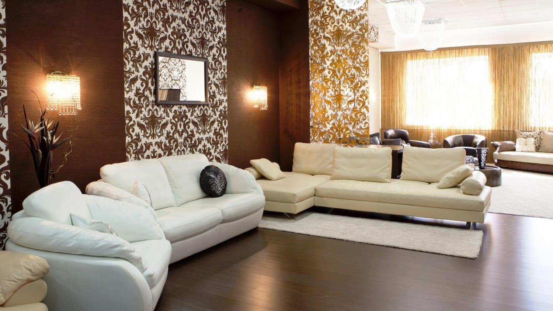 Коричневый диван 59 фото модели светло- и темно-коричневого цвета в бежево-коричневых тонах из кожзама