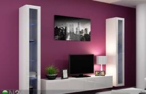 Выбираем глянцевую модульную мебель в гостиную: стенки, шкафы, гостиные