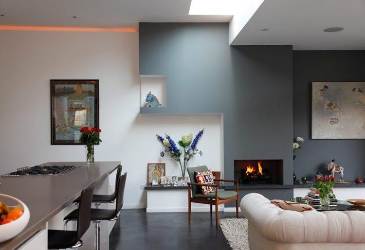 Использование цвета в интерьере современной кухни-гостиной