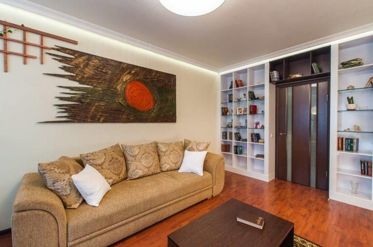Стильный и современный ремонт гостиной 18 кв. м.