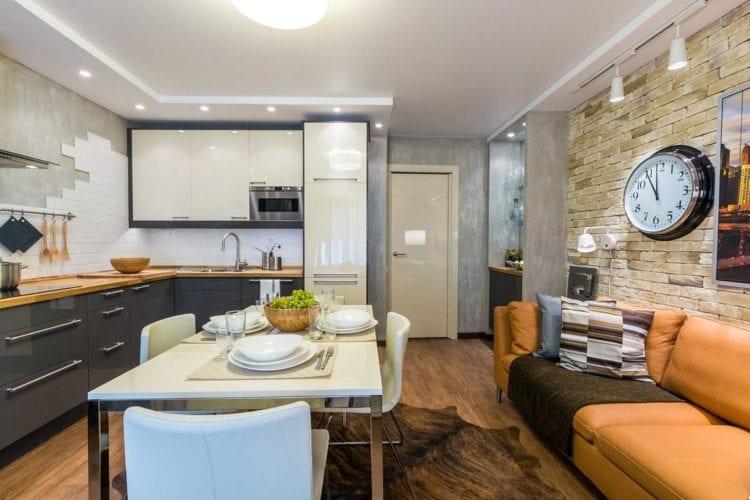 Кухня-гостиная 3 на 6 метров