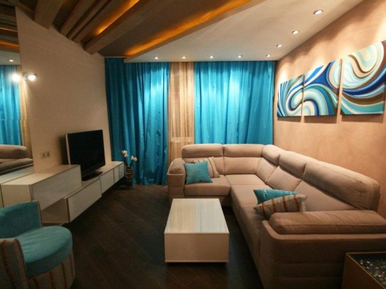 Интерьер комнаты 15 кв.м гостиная-спальня