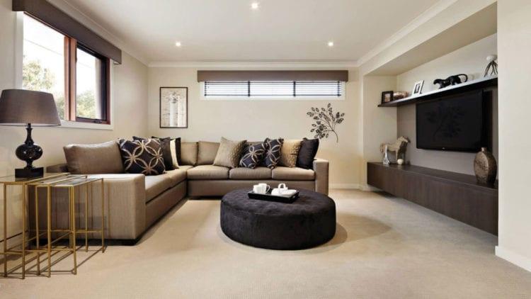Гостиная в коричневых тонах – изысканные сочетания, гармоничные решения, стилистические особенности