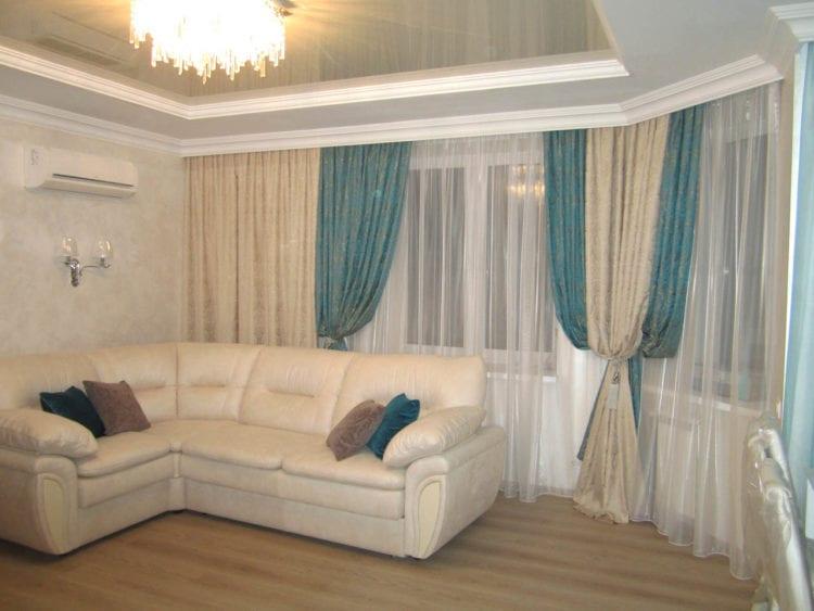 Красивые классические шторы для гостиной