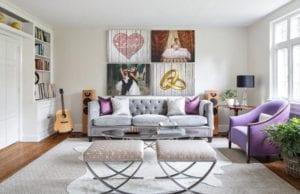 Серый диван для гостиной – универсальное решение для стильного интерьера
