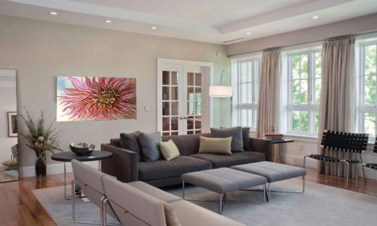 Серый диван для гостиной