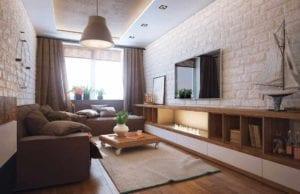 Гостиная площадью 15 кв. м: каким должен быть лаконичный дизайн для небольшой комнаты