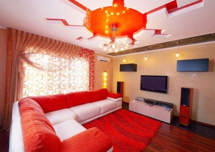 Светильники для натяжных потолков в гостиную