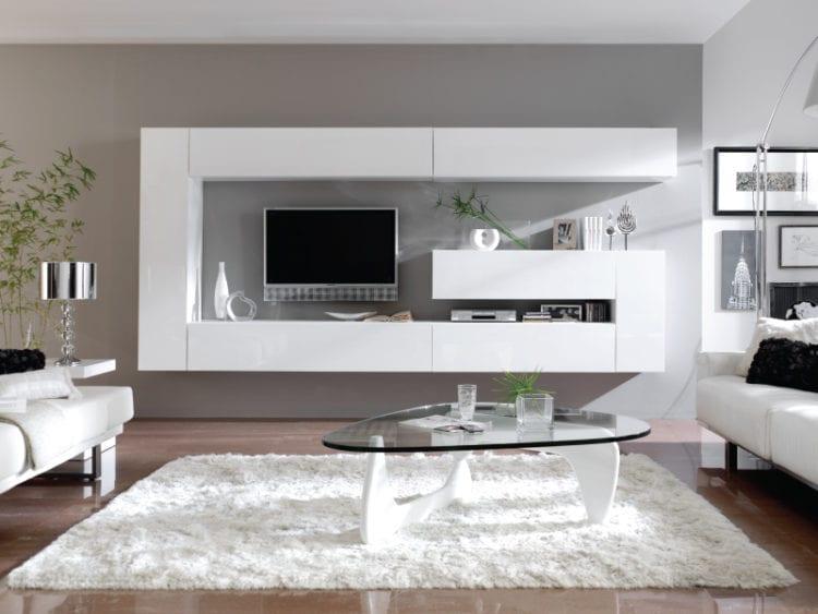 Белая стенка в гостиной – стильный гарнитур для изысканной обстановки