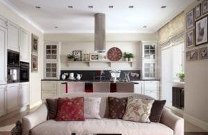 Кухня-гостиная в стиле прованс – интерьер с ароматом лаванды