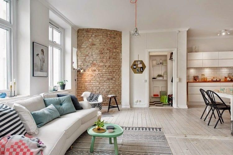 Спальня и гостиная в скандинавском стиле: нюансы зонирования