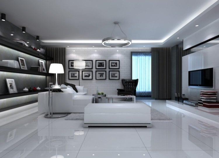 Стиль Техно в дизайне гостиной