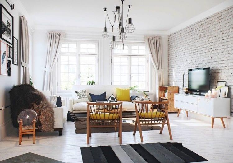 Гостиная и зал в скандинавском стиле от идеи до реализации