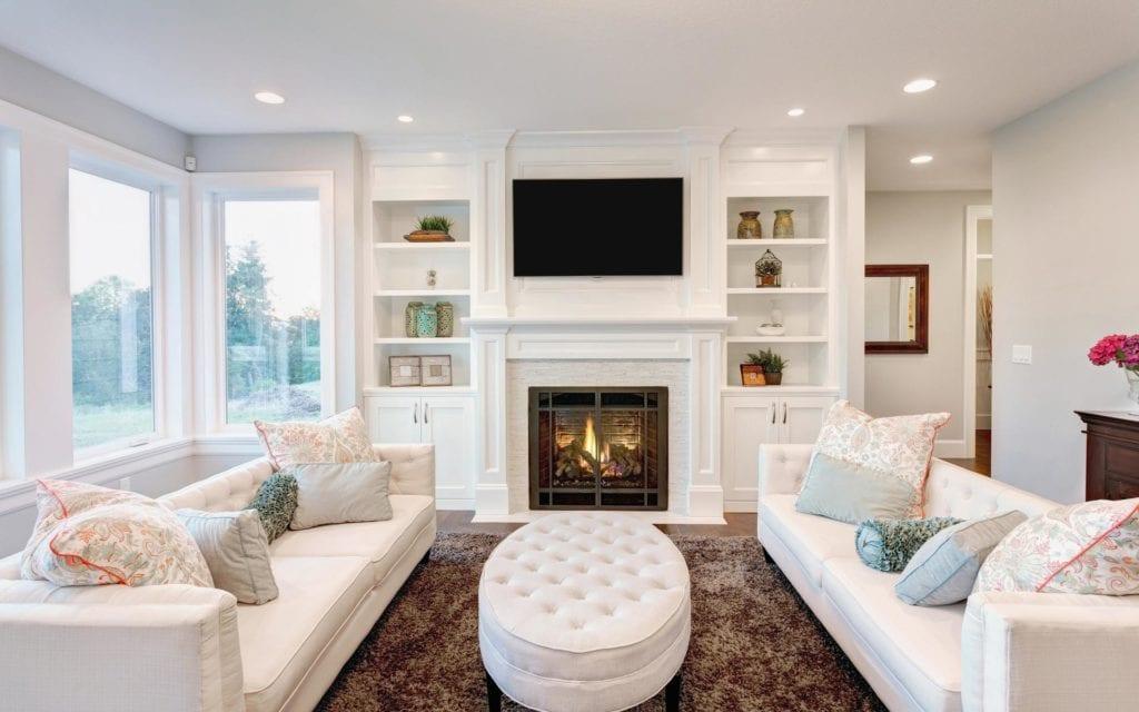 Белая мебель для гостиной