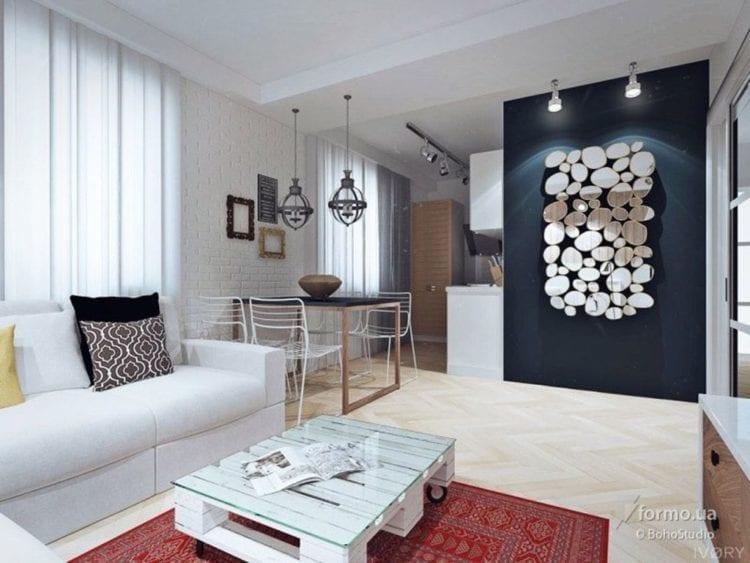 Цвет гостиной в скандинавском стиле
