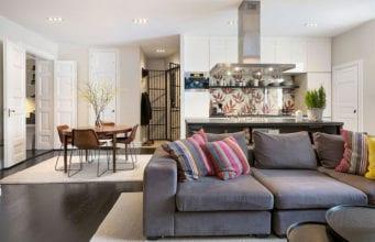 Кухня-гостиная 30 кв. м.: особенности дизайна, стилистические решения, правила зонирования