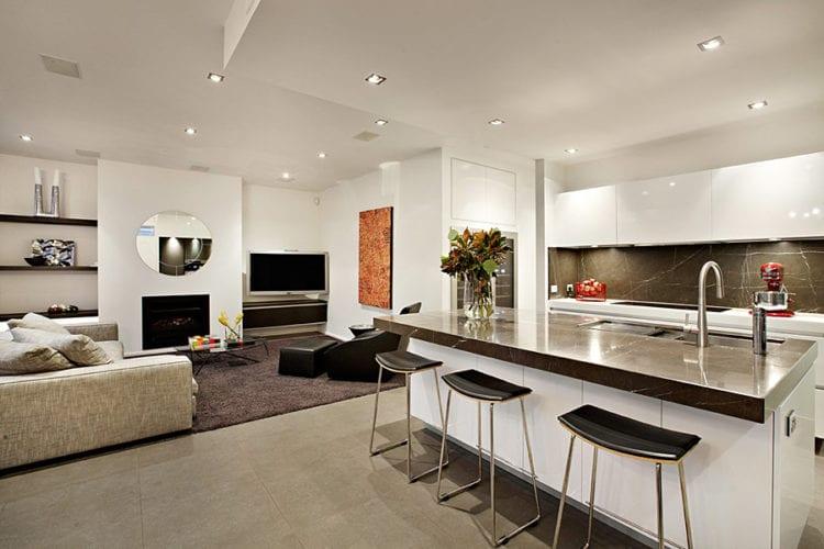 Гостиная с кухней в современном стиле