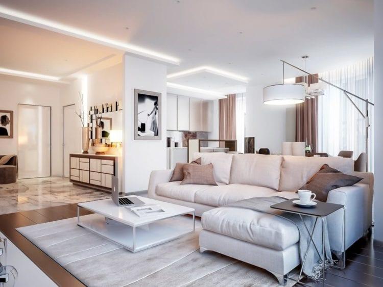 Дизайн светлой гостиной контемпорари