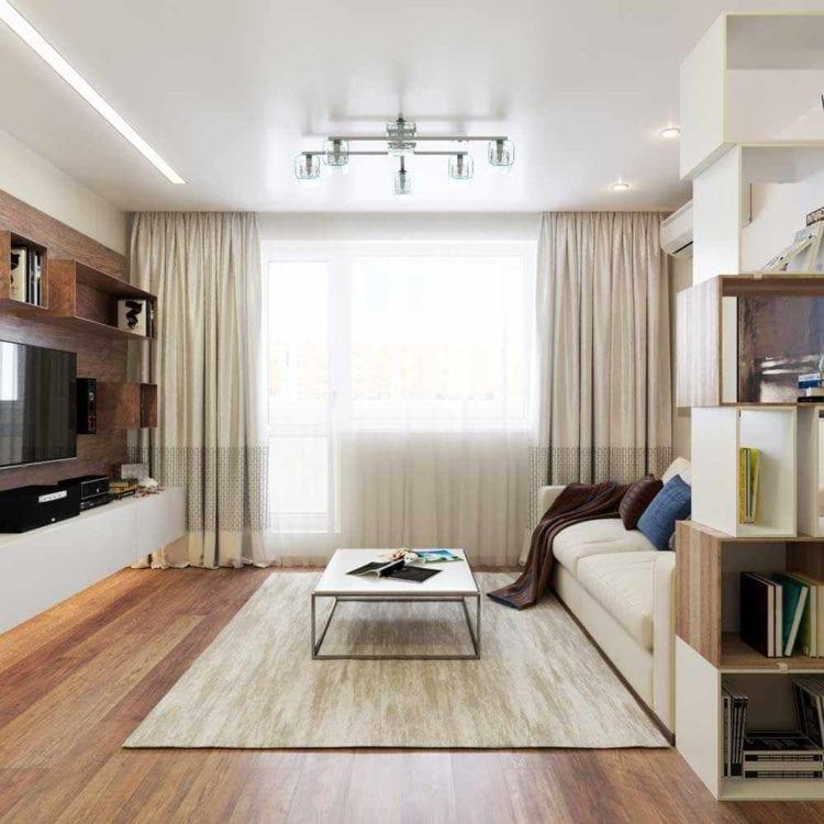 Дизайн гостиной в 18 кв. метров
