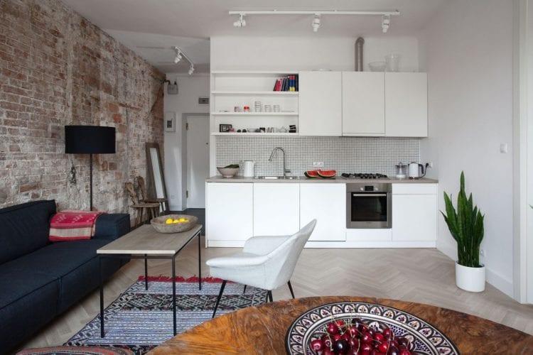 Дизайн кухни-гостиной площадью 17 кв. м в обычной квартире