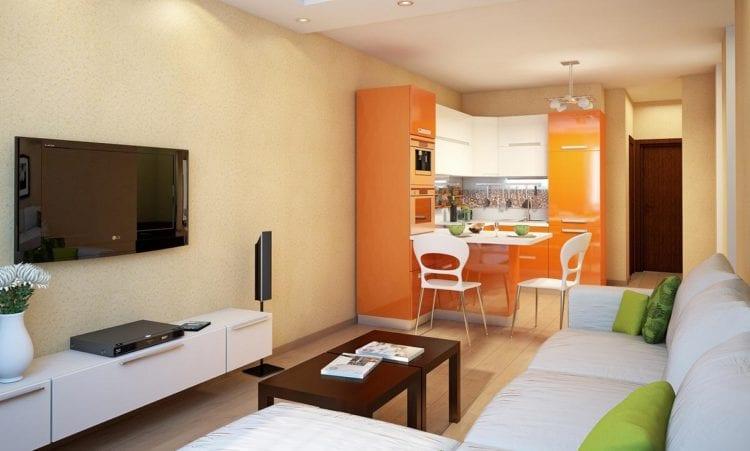 Кухня-гостиная 15 кв.м