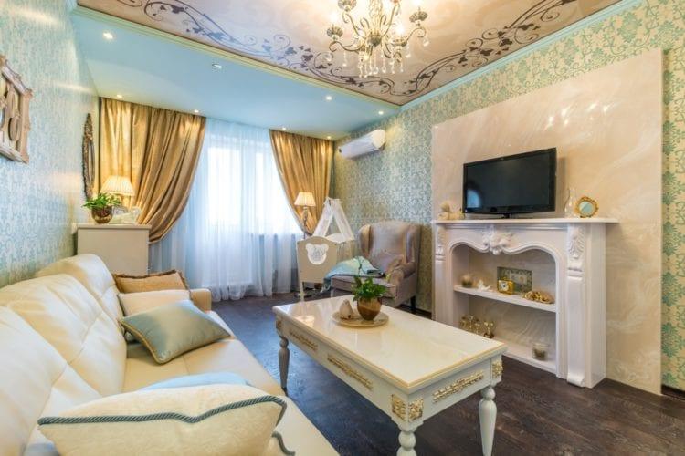 Дизайн гостиной-спальни площадью 18 кв. м