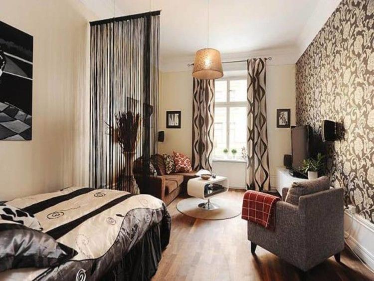 Дизайн зала со спальней суммарной площадью 18 кв. м.