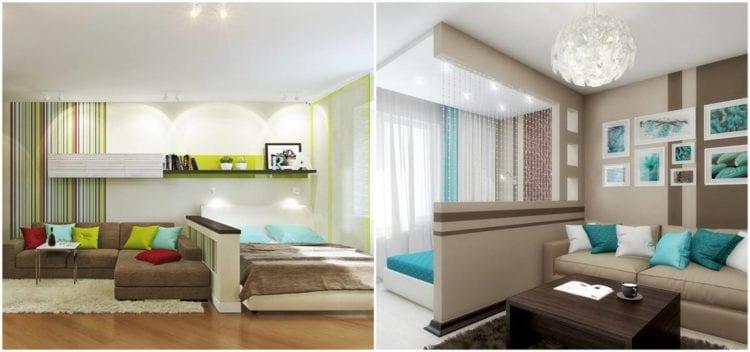 Дизайн спальни-гостиной 14 кв. м